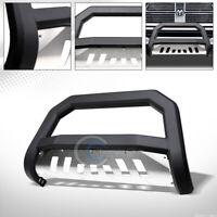 Fit 09-18 Dodge Ram 1500 Matte Black/Skid AVT Bull Bar Brush Bumper Grille Guard