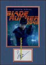 Sylvia Hoeks Replicant in Denis Villeneuve Bladerunner 2049 Autograph UACC RD96