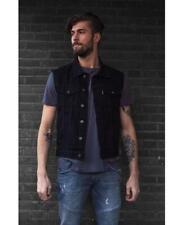 gilet jacket en jean denim Noir   M L XL 2XL NEUF ( bikers ) 300082