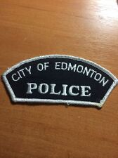 PATCH POLICE CANADA - EDMONTON ( ALBERTA ) - ORIGINAL!