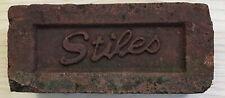Vintage Antique STILES Reclaimed Red Brick Paver Street Garden Yard Decor USA #2