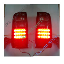 For Toyota Land Cruiser  LC80 FJ82 1991-1997 1Set Red/Clear Tail Lights j Lamps
