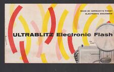 Ultrabilitz Electronic Flash The Comet Ad Booklet Supreme Jet II Rocket WL II