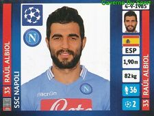 457 RAUL ALBIOL ESPANA SSC NAPOLI STICKER CHAMPIONS LEAGUE 2014 PANINI