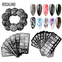 Rosalind Nail Stamp Plates Stainless Steel 20 Designs Ships From USA