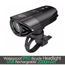 USB Recargable LED Linterna Bicicleta Bici De Montaña Bicicleta de Carretera Casco Para Ciclismo Luz Frontal