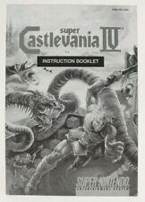 Super Castlevania IV Super Nintendo SNES Black & White Manual Only