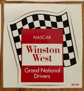 VINTAGE NASCAR WINSTON WEST GRAND NATIONAL DRIVERS DECALS