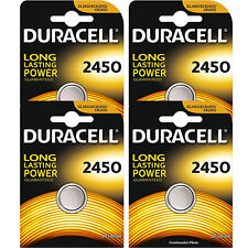4 Pcs Duracell CR2450 ECR2450 CR 2450 3V Coin Cell Lithium Button Battery
