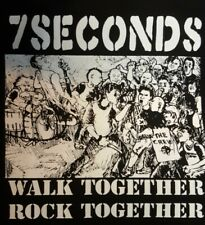 7 SECONDS PUNK ROCK BLACK CANVAS BACK PATCH