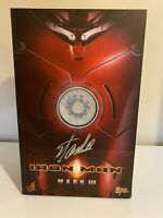 Autographed by Stan Lee (Box Only) Hot Toys Iron Man Mark III MMS 75 (No Figure)