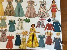 1942 Shirley Temple Paper Dolls Original Saalfield Cut Used 2 Dolls & Outfits