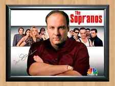 The Sopranos James Gandolfini Signed Autographed A4 Print Poster TV Series dvd
