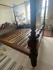 More details for antique indian four poster bed