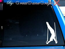 Gymnastics Gymnast Rings Vinyl Decal Sticker - Color Choice - HIGH QUALITY