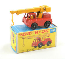 Matchbox Lesney 1-75 Series 42c Iron Fairy Crane - Type F2 Box * NMIB *