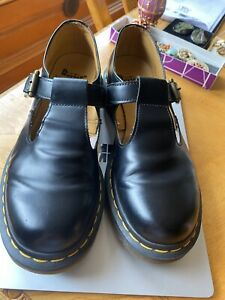 Ladies Doc Dr Martens Polley Smooth Black Womens Shoes UK 6 Excellent!