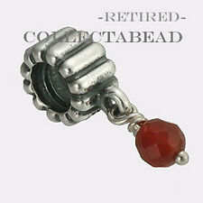 Authentic Pandora Sterling Silver Hanging Amber Bead *RETIRED*