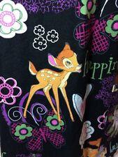 Bambi Thumper Disney Scrub Medical Happiness Hearts Butterfly V Neck 3 Pocket