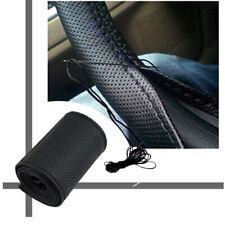 Soft Car Auto DIY Steering Wheel Cover PU Leather Non-Slip Needle & Thread  UK