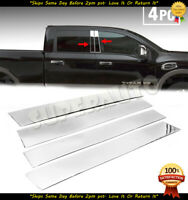 Pillar Post Covers for 2005-2014 Nissan Titan King Cab Stainless Steel 4p