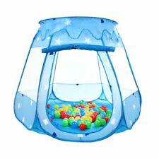 Pop Up Bällebad mit 100 Bällen Spielhaus Kinderzelt Spielzelt Babypoo Blau