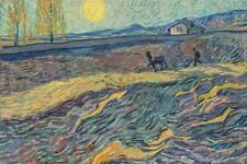 Vincent Van Gogh Laboureur dans un Champ St Remy Art Print Poster 24x36 inch