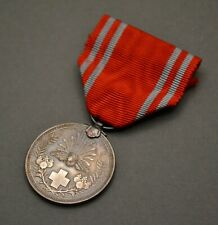 WW2 Era Japanese Red Cross Membership medal In Silver WWII Imperial Japan