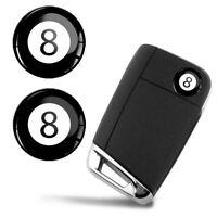 Ø14mm Schlüssel Fernbedienung Lenkrad Aufkleber Billiard Ball 8 Pool Logo Emblem