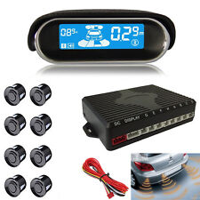 8 Black Parking Sensor Dual-core Front/Rear LCD Display Car Reverse Backup Radar