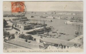 Jersey postcard - St Helier - General View of the Harbour - LL 21-P/U 1910 (A65)