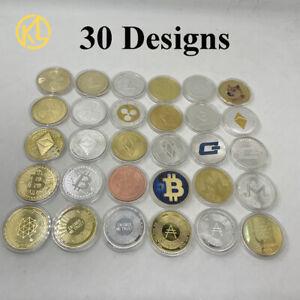 30pc Gold Silver Ada BTC/ETH/Litecoin/Ripple/Monero/EOS/Dogecoin Crypto Coin