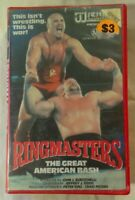 RingMasters VHS 1985 NWA The Great American Bash 1987 Vestron Video Large Case