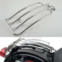 Chrome Solo Seat Luggage Rack for Harley Davidson Sportster XL883 1200 1985-2003
