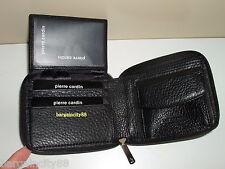 Pierre Cardin Italian Leather Mens Wallet/card Holder Pc9449 Black