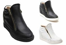 Unbranded Casual Zip Wedge Shoes for Women