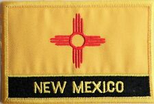 New Mexico State USA Flag Embroidered Patch Badge - Sew or Iron on