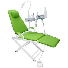 Dental Portable Chair Unit with LED Lamp + Turbine Unit Metal Shell 4H Green New