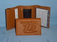 Greg Biffle #16  NASCAR   Leather TriFold Wallet   tan