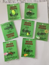 New listing 7 Vintage Walleye Spinners System Tackle Co. Mn. Fishing Lure Bait Hook Mip