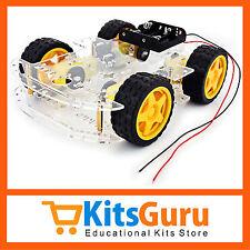 Smart Car Chassis 4WD/Racing Car/Robot Car Chassi/Wheels/MotorsTransparent KG192