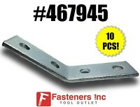 (QTY 10) 4-Hole 45° Open Corner Angle for Unistrut Channel #467945 P2265