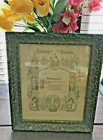 c.1897 Wood Gesso Frame Certificate of Confirmation German COURTLAND MINNESOTA