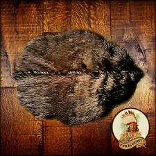 Brown Beaver Skin Pelt Rug - Premium Quality Faux Fur - Bear Skin - Hide - Throw