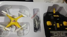 Yellow and White 6-Axis Quadcopter Drone FPV RC Drone Helicopter UK