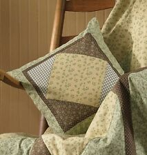 Earthy Spring Patchwork Peaceful Cottage Pillow Cover by Park Designs, 16 Inch