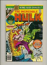 Incredible Hulk Annual #6 (1977) 1st Paragon GOTG 2 Her/Kismet/Ayesha HIGH GRADE