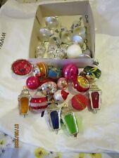 Vintage bundle Christmas tree baubles hanging decorations ornaments
