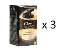 Olay Total Effects 7-in-1 Day Moisturizing Cream, SPF 15, 50 ml (3 Pack)