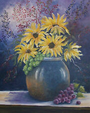 My Summer Boquet  8 x 10 print on linen card stock of original oil   painting